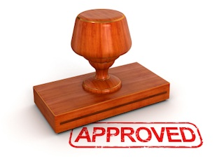 iStock - rubber stamp approved med